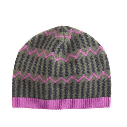 Zigzag stripe hat