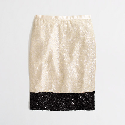 black and white sparkly pencil skirt