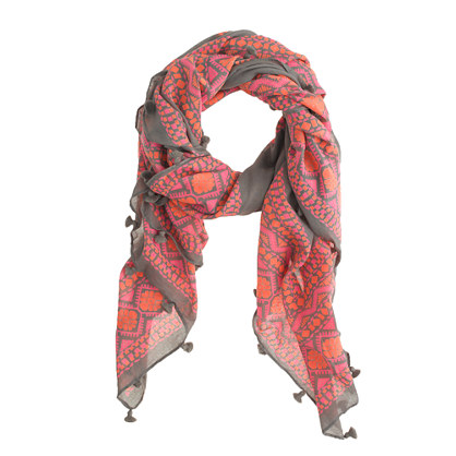 Floral diamonds scarf