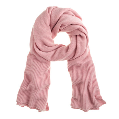 Chunky cashmere scarf