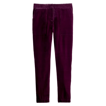 Collection tailored sweatpant in velvet