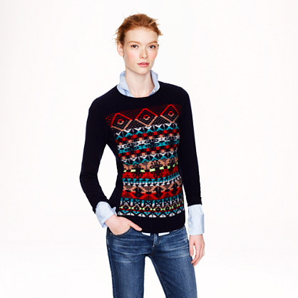 Jacquard-stitch Fair Isle sweater