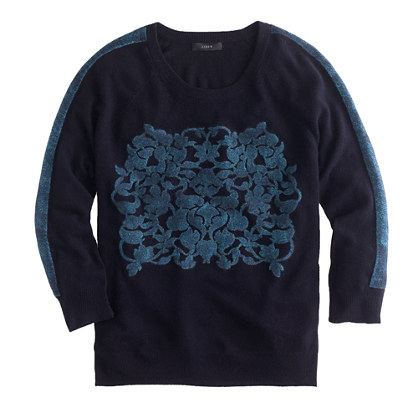 Pre-Order Embossed floral sweater