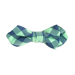 Boys' gingham bow tie