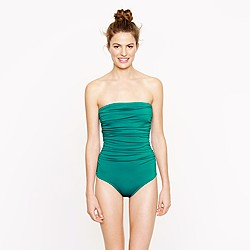 Long torso ruched bandeau tank