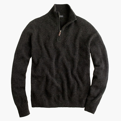 Cashmere half-zip sweater