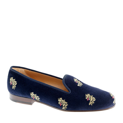Stubbs & Wootton® for J.crew classic velvet slippers