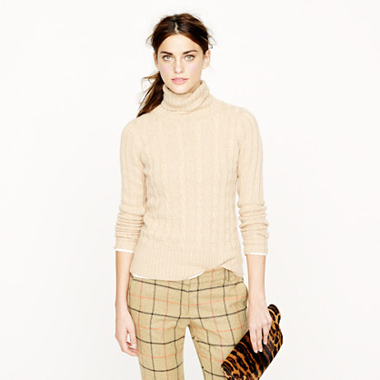 Cambridge cable chunky turtleneck sweater