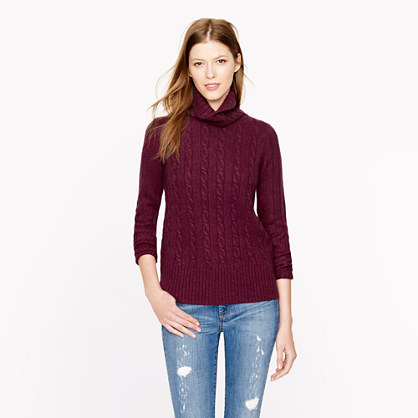 Pre-order Cambridge cable chunky turtleneck sweater