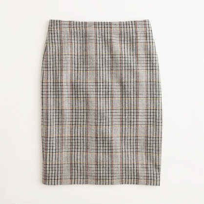 Factory pencil skirt in glen plaid