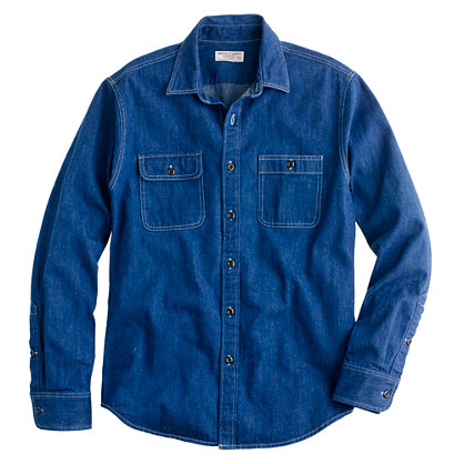 Wallace & Barnes denim workshirt