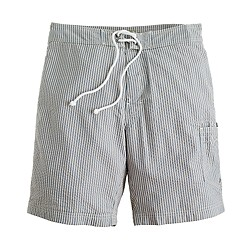 "9"" board shorts in seersucker"