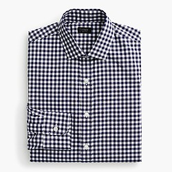Ludlow spread-collar shirt in medium gingham