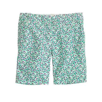 Girls' bermuda short in scattered floral