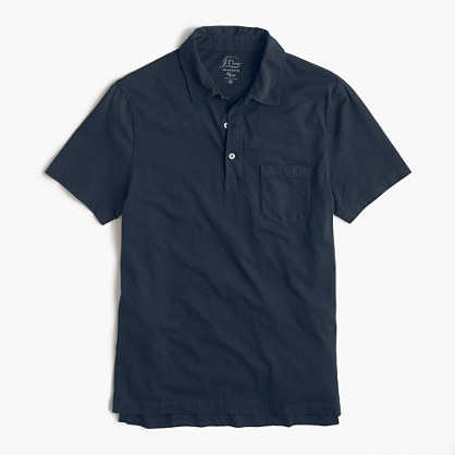Broken-in pocket polo