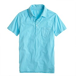 Slim broken-in pocket polo