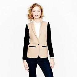 Contrast knit blazer