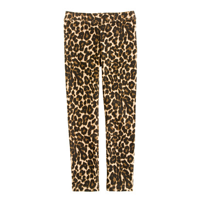 Girls' everyday leggings in leopard