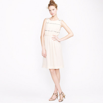 Collection beaded chiffon dress