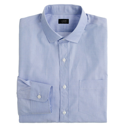 Classic spread-collar end-on-end shirt
