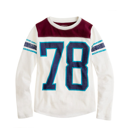 Boys' long-sleeve #78 football tee