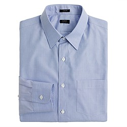 Ludlow point-collar shirt in end-on-end