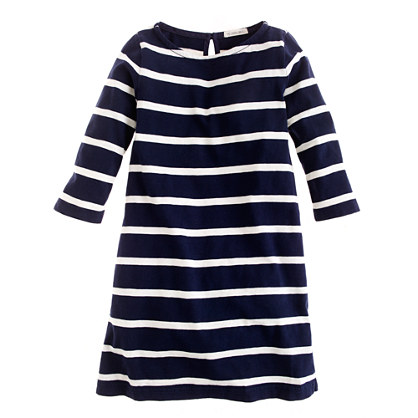 Girls' maritime dress in wide stripe