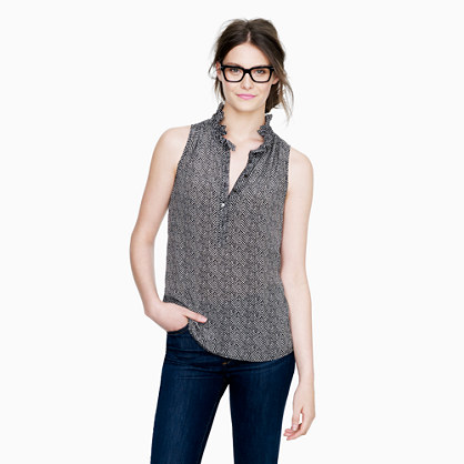 Petite Nicky top in herringbone