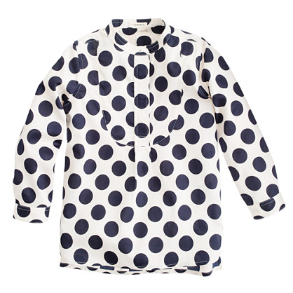 Girls' moon-dot tunic