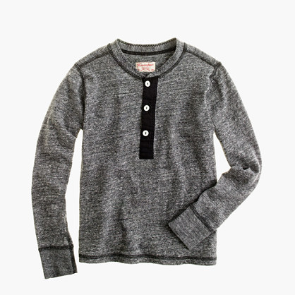 Boys' Homespun Knitwear charcoal henley