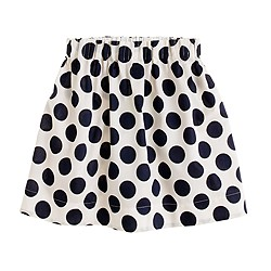 Girls' moon-dot twill skirt