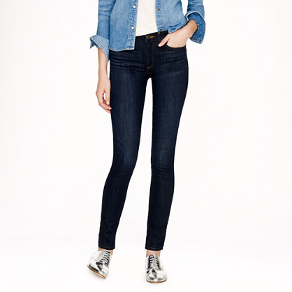Tall midrise toothpick jean in carbon