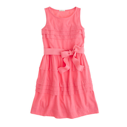 Girls' pintuck jersey dress