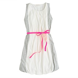 Girls' colorblock bubble dress