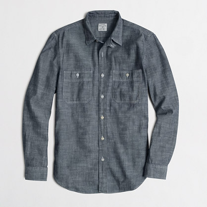 Factory chambray workshirt