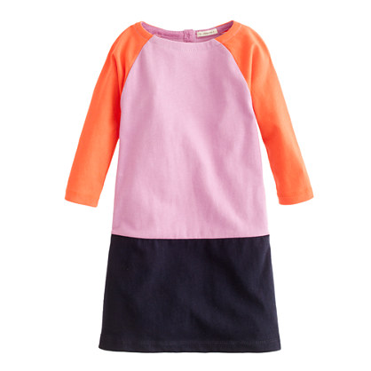 Girls' mini Jules dress in colorblock