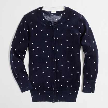 Factory Clare cardigan in scattered dot