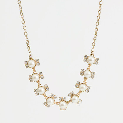 Factory vintage gold-plated pearl necklace