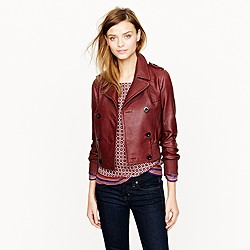 Collection leather bomber