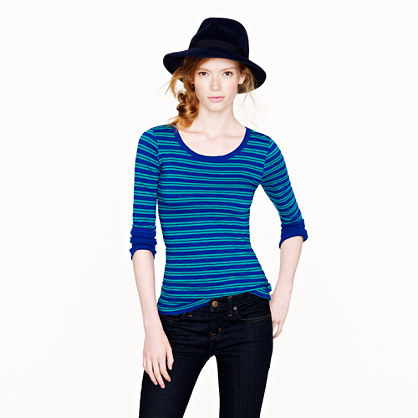 Painter scoopneck tee in stripe