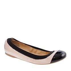 Mila cap toe leather ballet flats
