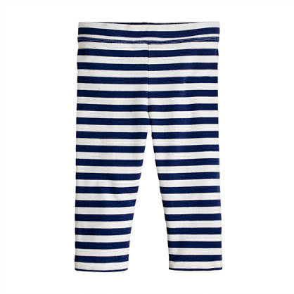 Girls' everyday capri leggings in stripe