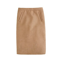 Petite sterling skirt in double-serge wool