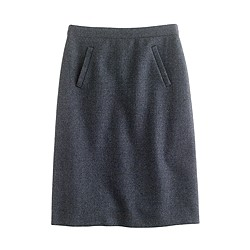 Sterling skirt in double-serge wool