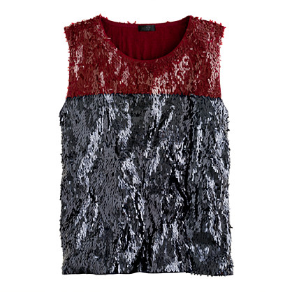 Collection sequin colorblock tank