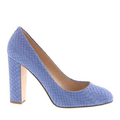 Collection Etta snakeskin pumps