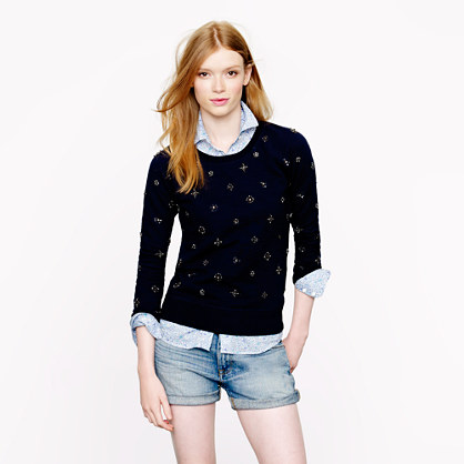 Jeweled sweatshirt