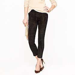Collection stretch suede leggings