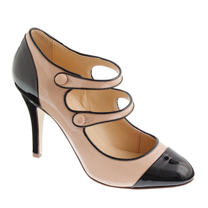 Mona two-tone patent Mary Janes