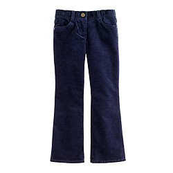Girls' stretch vintage bootcut cord